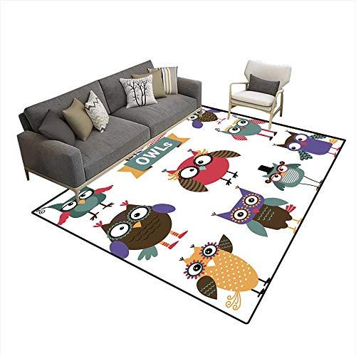 - Kids Carpet Playmat Rug Owl coloureicons Set