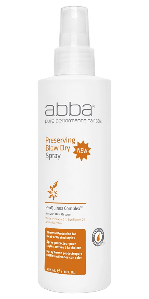 ABBA Preserving Blow Dry Spray, Aloe & Sunflower, 8 Fl Oz