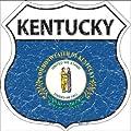 Rancho Denaro HS-125 Kentucky State Flag Highway Shield Metal Sign
