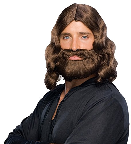 UHC Religious Biblical Character Wig & Beard Easter King Costume Accessory ()