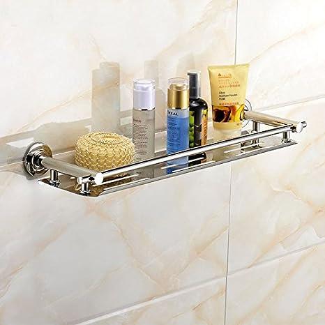 Amazon.com: Acero inoxidable estante de baño ducha champú ...
