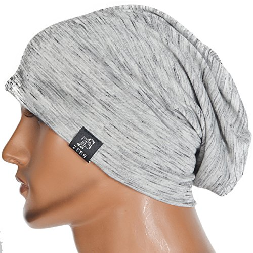 Review Chic Striped Thin Baggy Slouch Summer Beanie Skull Cap Hat (Pale)