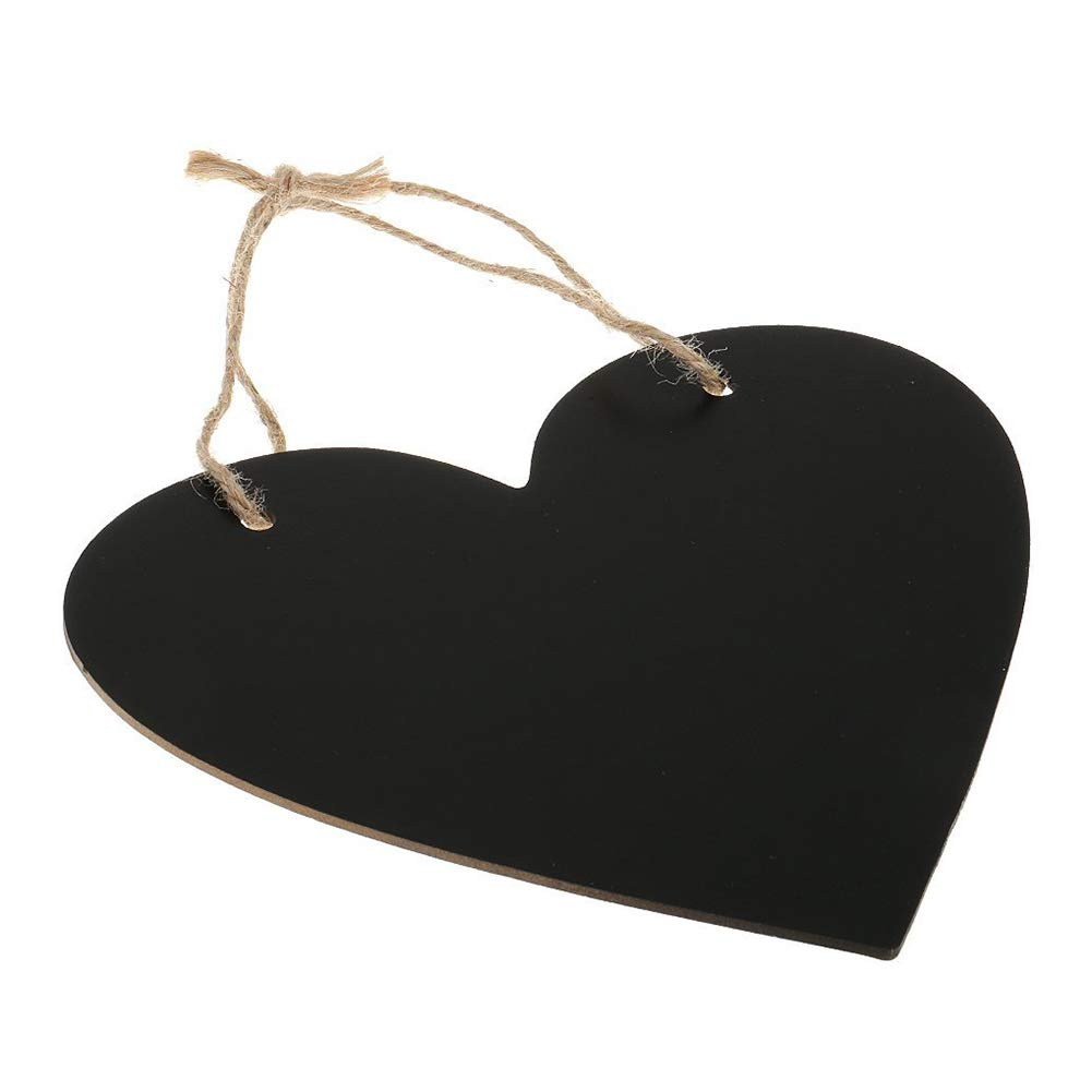 Un Seul c/ôt/é Mini Tableau Noir en Bois d/écoratif m/émo Message Tableau effa/çable pour Mariage Cuisine f/ête D/écoration Faderr Tableau Noir /à Suspendre en Forme de c/œur