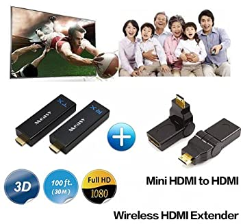 Measy W2H Nano Wireless Video Transmisor y Receptor Mini HDMI para ...