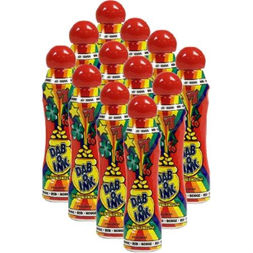 One Dozen 3oz Dab-O-Ink Red Bingo Dauber