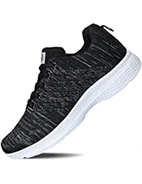Women's Running Shoes Knit Breathable Lightweight Athletic Walking Sneaker