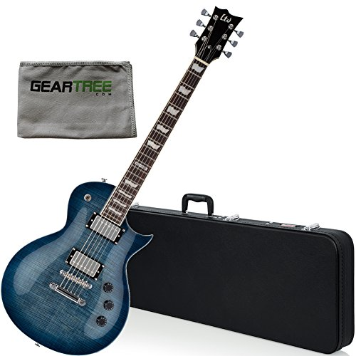 ESP LTD EC256FMCB Eclipse Cobalt Blue Electric Guitar w/ Geartree Cloth and Hard - Ltd Case