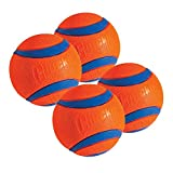 Chuckit! Dog Fetch Toy ULTRA BALL Durable Rubber Fits Launcher LARGE 4 PACK