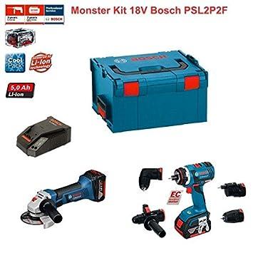 Kit Bosch psl2p2F (GSR 18V-EC FC2+ GWS 18-125+ Accesorios ...