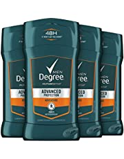 Degree Men 48-hour Antiperspirant Feel Fresh and Stay Dry Adventure with Deodorant to stop Odor and Wetness 2.7 oz -Pack of 4