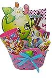 Girls Pink Shopkins Prefilled Basket Bundle & More - 12 Items