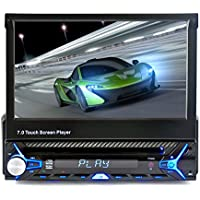 Car audio, 7 Inches Car Tensile Screen DVD Single DIN Car Audio Support Reversing Images Function With Bluetooth Function Support Hands-free Calls