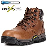 ROCKROOSTER Men's Work Boots, Composite Toe, Waterproof Resistant, Kevlar Puncture, Safety Shoes (AT697PRO AT872)