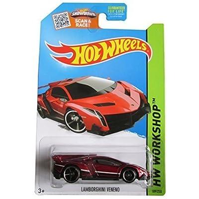 Hot Wheels 2015 HW Workshop Lamborghini Veneno 189/250, Maroon: Toys & Games