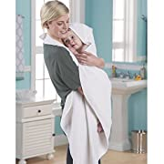 100% Cotton Terrycloth Hooded Apron Style Baby Bath Towel by One Step Ahead