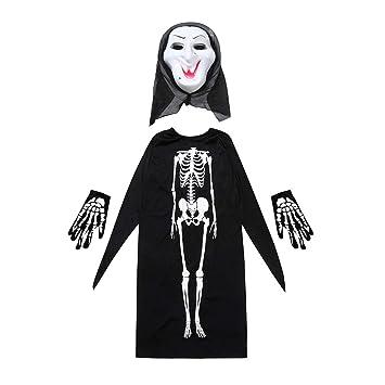 Skeleton Family Halloween Costumes.Amazon Com Grim Reaper Costume Adult Skeleton Print Cloak