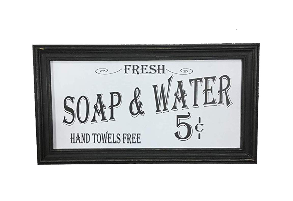 OHIO WHOLESALE, INC. Vintage Bath Advertising Wall Art, from Our Americana Collection, from Our Americana Collection-White