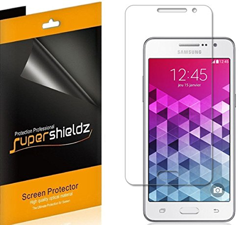 [6-Pack] Supershieldz- Anti-Bubble High Definition Clear Screen Protector for Samsung Galaxy Grand Prime + Lifetime Replacements Warranty - Retail Packaging