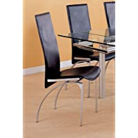 Coaster Himmarshee Upholstered Dining Side Chair with Black Bonded Leather