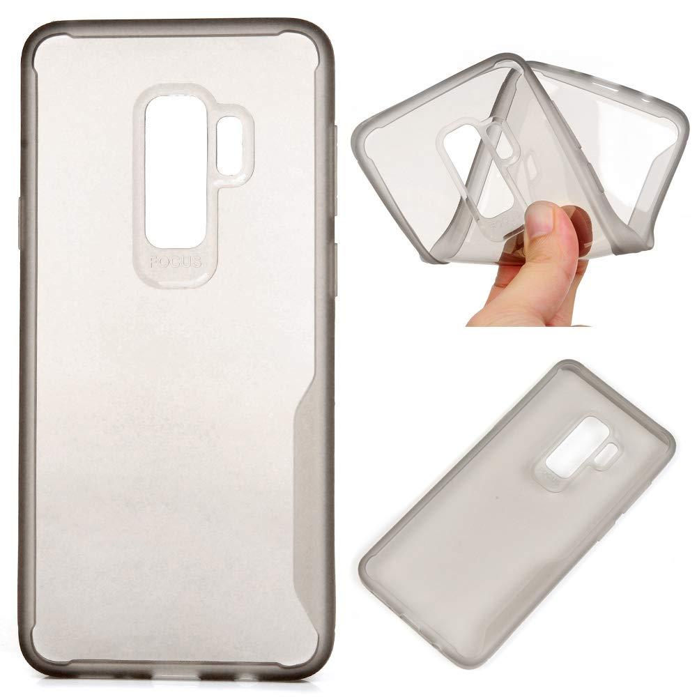 LaVibe /Étui Gel Silicone TPU Pure Transparant Protecteur Housse Anti-Rayures Pare-Chocs Bumper Souple Ultra Slim Flexible Soft Case Cover // S9 Plus Bleu Coque Samsung Galaxy S9