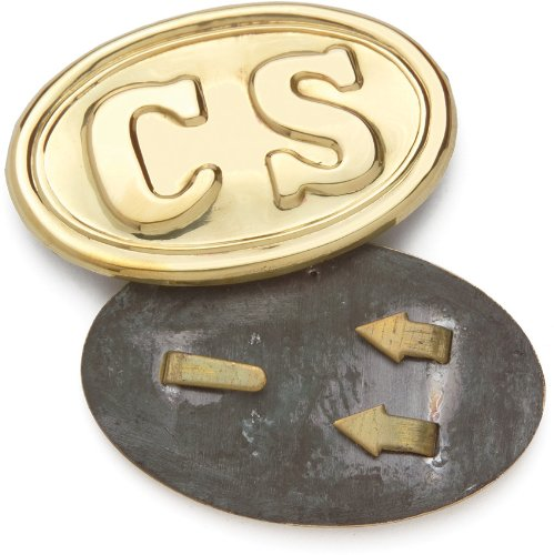 "Denix Civil War Confederate 16-04A Brass Oval Enlisted Belt Buckle 3 3/8""x2 1/8"""