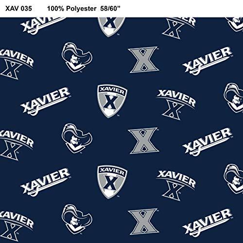 Xavier University Fleece Blanket Fabric-Xavier Fleece Fabric Sold by The - Fabric Fleece Xavier University