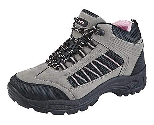 PINK TREKING GIRLS 3 SHOES SIZE HIKING RAMBLING 8 BOOTS TRAIL WALKING GREY WOMENS wpxWf7I4q4
