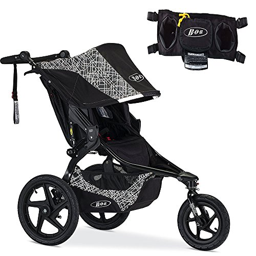 BOB 2016 Revolution Flex Jogging Stroller, Lunar & Handlebar Console Set