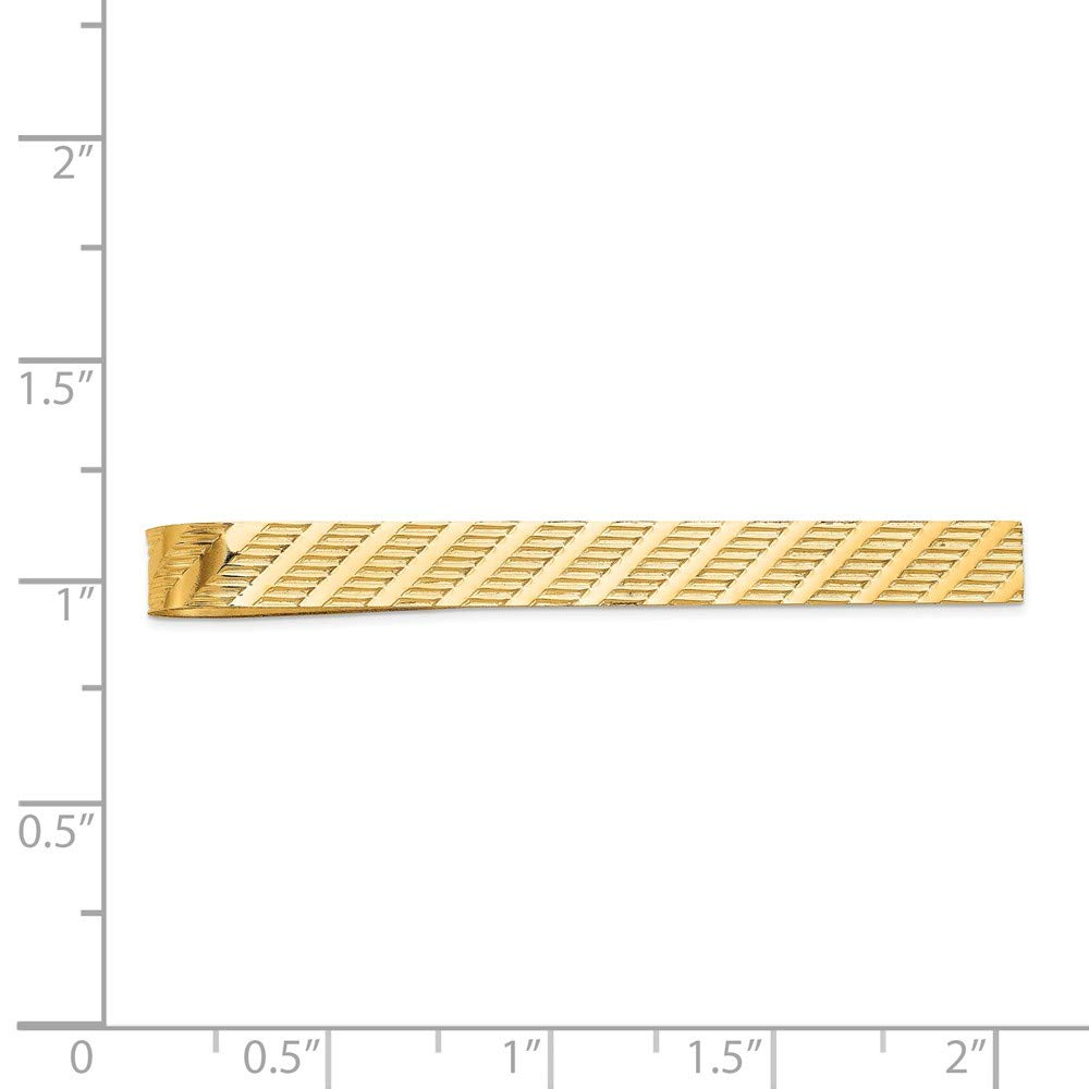 Solid 14k Yellow Gold Tie Bar (8mm x 49mm) by Sonia Jewels (Image #2)