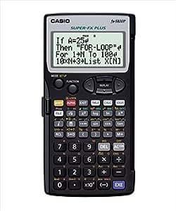 Casio FX-5800P - Calculadora programable (664 funciones, LCD de 4 líneas, 16 caracteres), color gris
