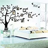 decorating ideas for living room walls zhiyu&art decor Large Family Tree Wall Decal Decor Removable Photo Frame Tree Wall Decor Picture Frames Tree Wall Stickers for Living Room Wall Decor