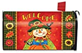 Briarwood Lane Harvest Scarecrow Fall Magnetic Mailbox Cover Primitive Welcome Standard