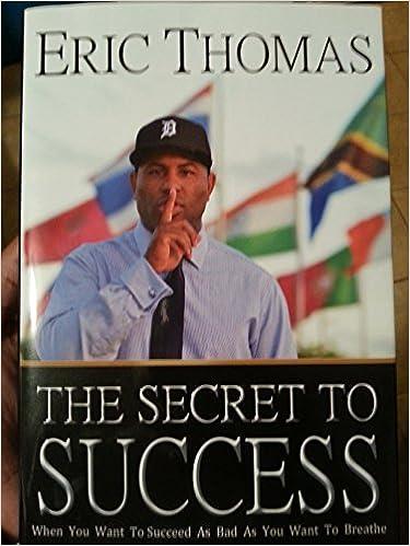 The Secret To Success Eric Thomas Epub
