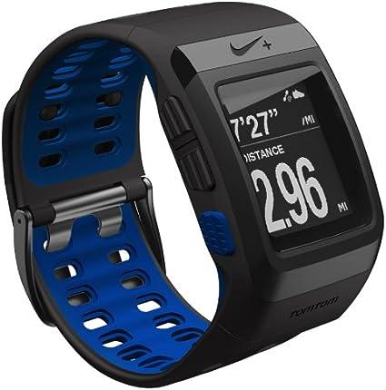 Espectador tos visto ropa  TomTom Nike+ Sportswatch GPS - GPS para carrera, color negro / azul:  Amazon.es: Deportes y aire libre