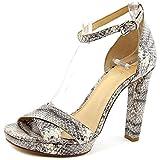MICHAEL Michael Kors Divia Crisscross Ankle-Strap Sandal, Roccia, Size 8.0