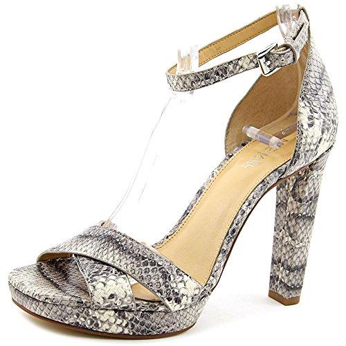 - MICHAEL Michael Kors Divia Crisscross Ankle-Strap Sandal,, Roccia, Size 8.5