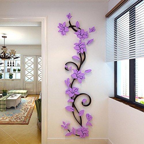 Cheap  Zeshlla DIY 3D Acrylic Crystal Wall Stickers Living Room Bedroom TV Background..