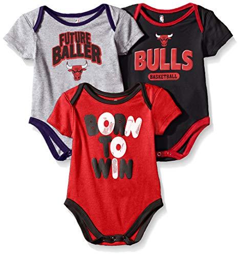 - Outerstuff NBA NBA Newborn & Infant Chicago Bulls Little Fan 3pc Bodysuit Set, Heather Grey, 18 Months
