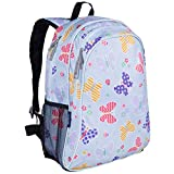 Wildkin 15 Inch Backpack, Extra Durable Backpack with Padded Straps and Interior Moisture-Resistant Lining, Perfect for School or Travel, Olive Kids Design – Butterfly Garden