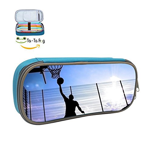 Se20B Basketball Dunk Hoopster Pencil Case Student 3D Printed Pen Box Stationery Pouch Multipurpose Storage Bag Blue (Bag Fbv)