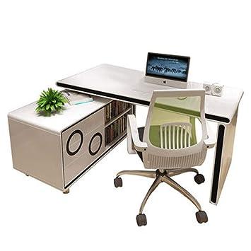 Selcng Home Living Computer Desk Bedroom Rotating Corner Desk