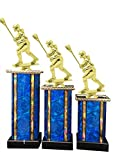 Female Lacrosse Award Trophy (3-Pack) 1st 2nd 3rd Place