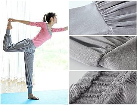 Leisial Pantalones de Yoga Algodón Suave Piernas Pantalones ...