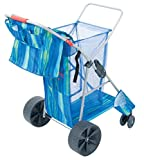 Best Beach Chairs With Wheels - Rio Brands Deluxe Wonder Wheeler Wide, Blue Print Review