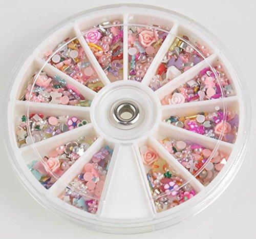 1 Sets Good-looking Popular 3D Acrylic Rhinestone Nails Art Wheels Salon Supplies Full Design Cellphone Pattern Style #24