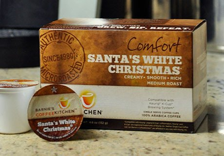 Barnie's Coffee & Tea Santa's White Christmas Single Serve Coffee, K Cups for Keurig Brewers, Medium Roast, Arabica Coffee Beans, 24 Count ()