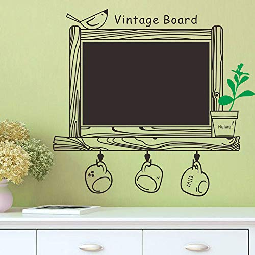 Removable Wall Sticker Kitchen Chalk Board Decal Decor Blackboard Bird Sticker For Kids Girls Teens Children Toddlers Boys, Apply to Theater Anchor's Room Kitchen Cabinets Glass Door Ceramics (A) ()