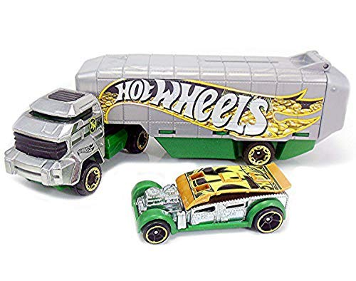 - Hot Wheels Hauling Rig Car - Truck Set - Bank Roller