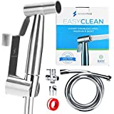 EasyClean Bidet Sprayer, Stainless Steel hand held Cloth Diaper Sprayer for Toilet with Adjustable Water Flow, Potty Training Spray for Easy Cleaning, Diaper Sprayer for Toilet Water Control