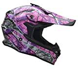 Vega Helmets Unisex-Adult Off Off Road Helmet (Pink Skull Camo, Medium)